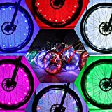 DAWAY Cool Bicycle Wheel Lights - A01 Waterproof Bright Bike Light Strip (2 Tire Pack), Safety LED Spoke Lights, Birthday Present for Girls Boys Kids Men Women, with Battery, 1 Year Warranty, Colorful