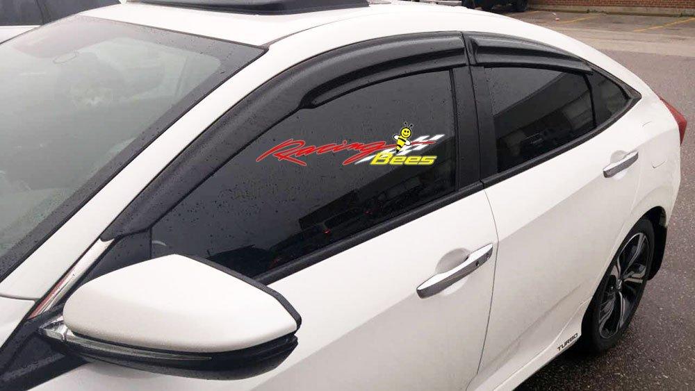 Racingbees 2016-2018 Honda Civic 4Door Sedan Mugen Style Window Visor