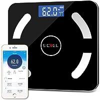 Screl Pèse-personne connecté balance intelligente impédancemètre Bluetooth - App multilingue (IMC, Poids, graisse, muscule, eau, os, besoin calorique.)
