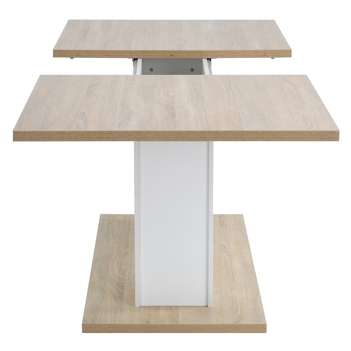 Extendable Rectangular Dining Table, Mltifunction Space Saving Wood Table (Extendable Beech Table) by HOMY CASA (Image #6)