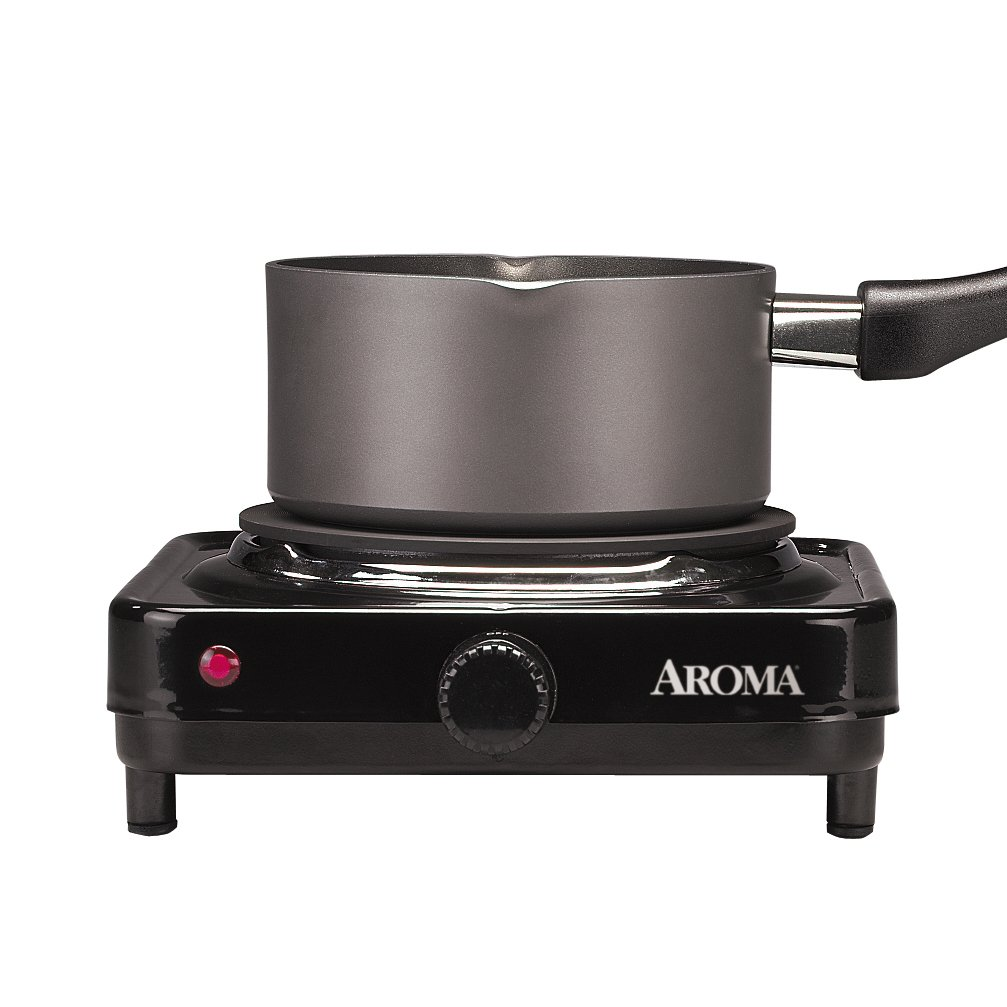 Aroma Housewares AHP-312 Double Hot Plate Black Double -2-Pack