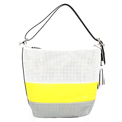 Amazon.com  Coach Legacy Perforated Stripe Duffle Convertible Bag 22412  Lemon Multicolor  Shoes cc82458dce8ed