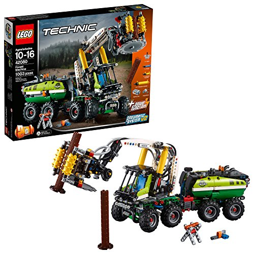 - LEGO Technic Forest Machine 42080 Building Kit (1003 Pieces)