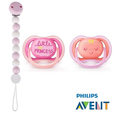 Philips AVENT Ultra Soft Air Chupete 6 - 18 Princess//(2 unidades ...