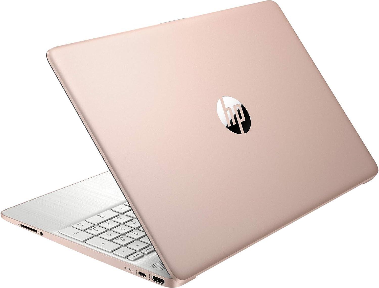 HP 15.6inch HD Laptop, AMD Quad-Core Ryzen 5 3500U Processor Up to 3.70GHz, 8GB DDR4 RAM, 256GB NVMe M.2 SSD, AMD Radeon Vega 8 Graphics, Win10 OS-(Renewed) (Rose Pink)