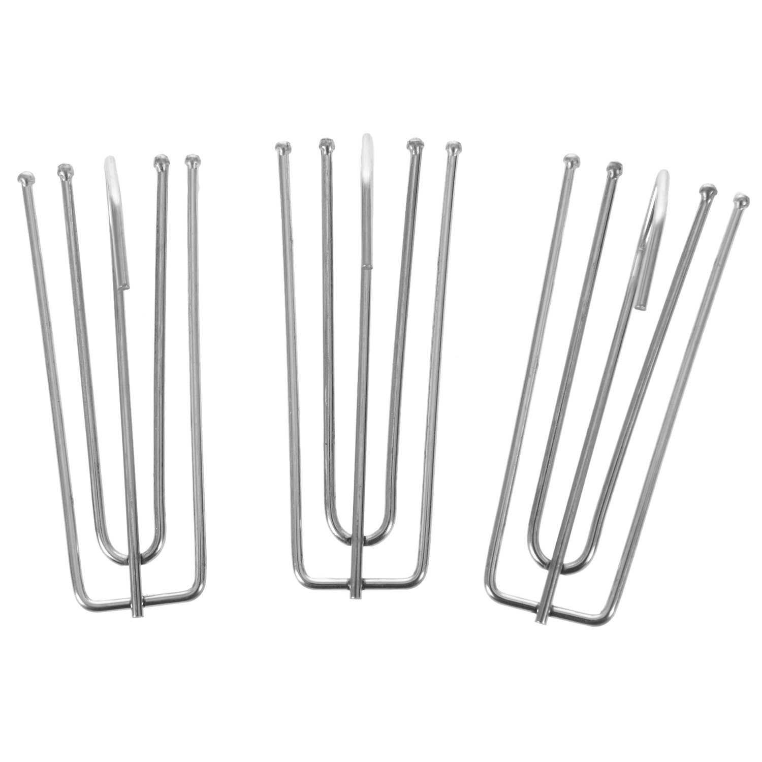 SODIAL Window Treatment 7cm Long 4 Pinch Pleat Drapes Curtain Hooks 10pcs