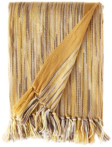 - Battilo Decorative Throw Blanket for Couch Throws Sofa Cover Soft Bedding Blanket Throw with Fringe, Yellow