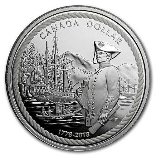 2018 CA Canada Proof Silver Dollar Captain Cook at Nootka Sound Silver Brilliant Uncirculated