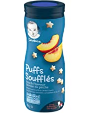 GERBER PUFFS Peach, Baby Snacks, Cereal Snack, 8+ months, 42 g, 6 Pack