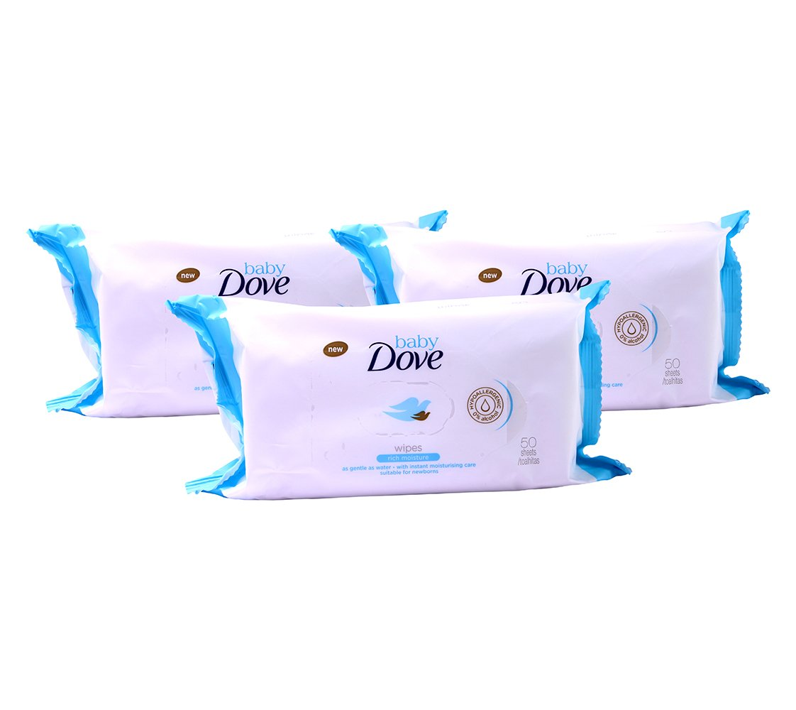 DOVE BABY SENSITIVE MOISTURE WIPES 50 SHEETS Fragrance Free
