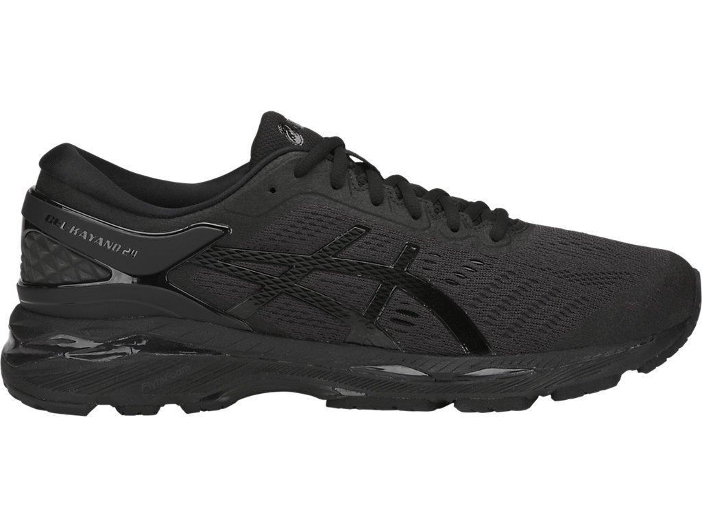 ASICS Men's Gel-Kayano 24 Running Shoes, 6.5M, Black/Black/Carbon