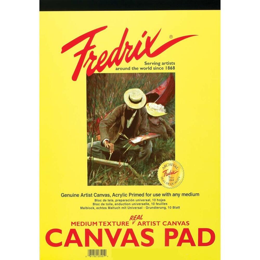 Fredrix 3495 Canvas Pads, 8 by 10-Inch Tara Materials Inc.