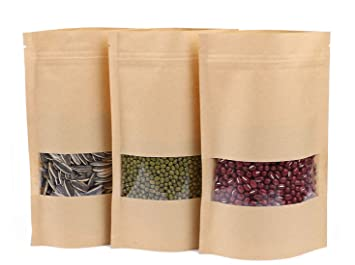 Amazon.com: Dproptel 50 Pack Reusable Ziplock Grip Standable ...