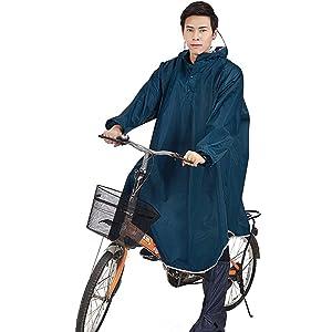 【2020年最新版】レインコート Hoomoi レインポンチョ 雨具 ポンチョ 完全防水 防汚 防風 耐久性 快適 自転車 バイク 通学 通勤に対応 アウトドア 男女兼用 軽量 収納袋付き