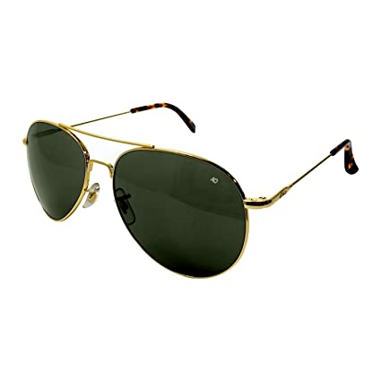 d4035313da AO Eyewear American Optical - General Aviator Sunglasses with Wire Spatula  Temple and Gold Frame