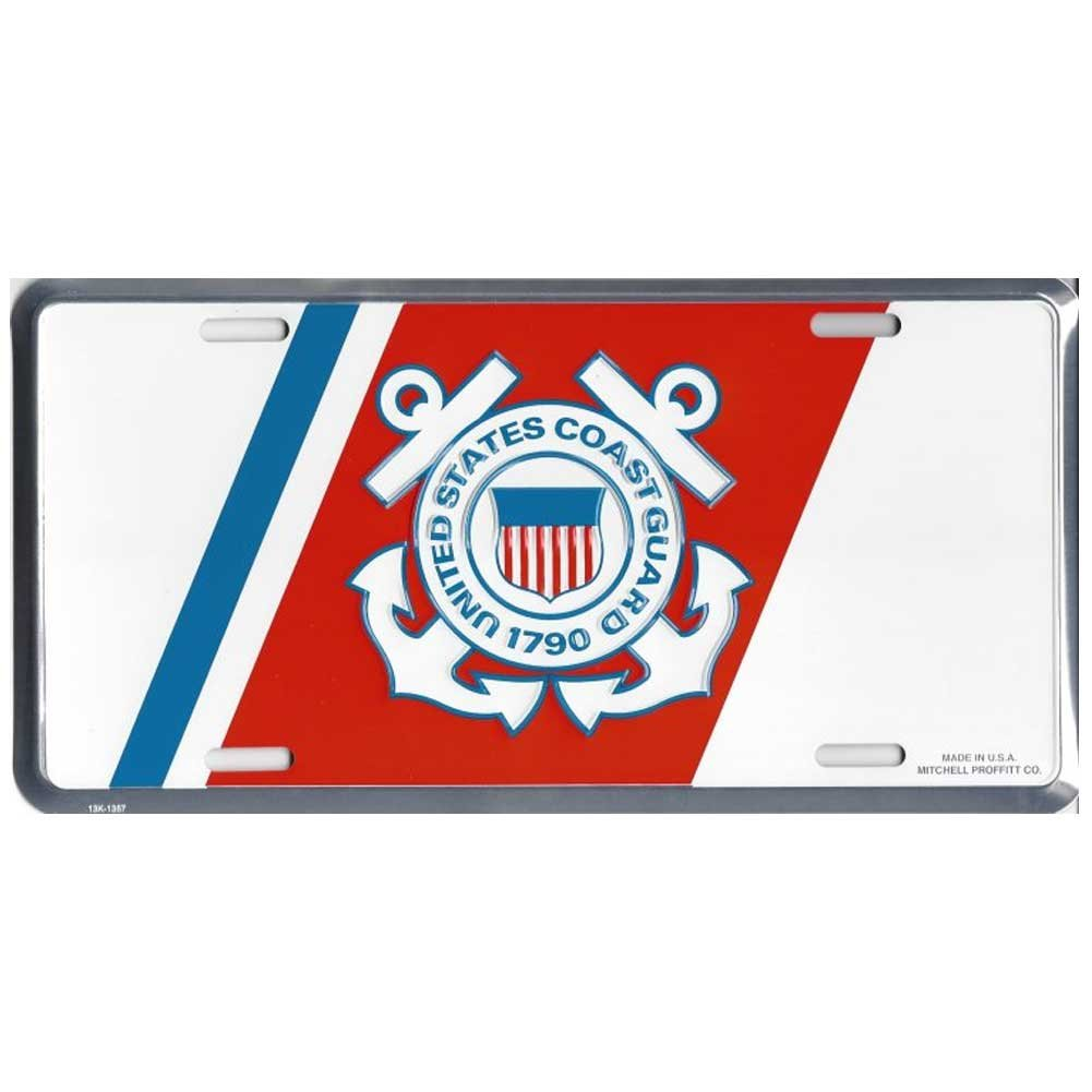 Honor Country US Coast Guard License Plate Insignia Mitchell Proffitt