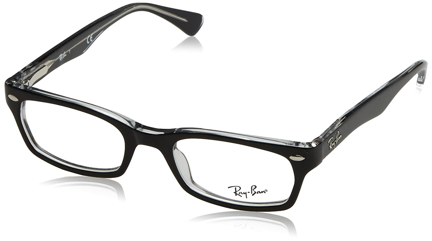 8a07cf1d58 Amazon.com  Ray-Ban Women s RX5150 Eyeglasses Top Black On Transparent  48mm  Health   Personal Care