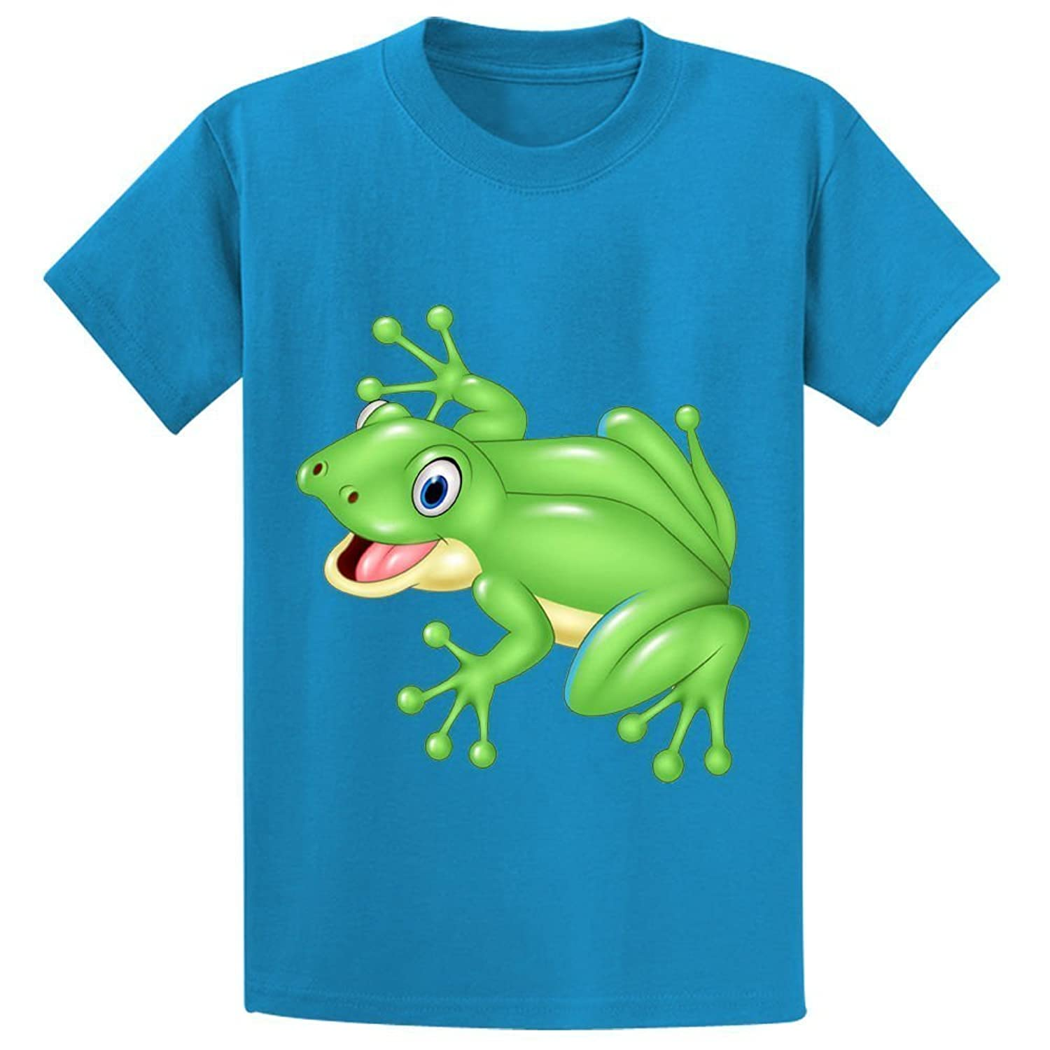 Abover Frog Youth Funny Round Neck T-Shirts