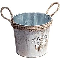 TOOGOO Cubo de flor de metal viejo retro