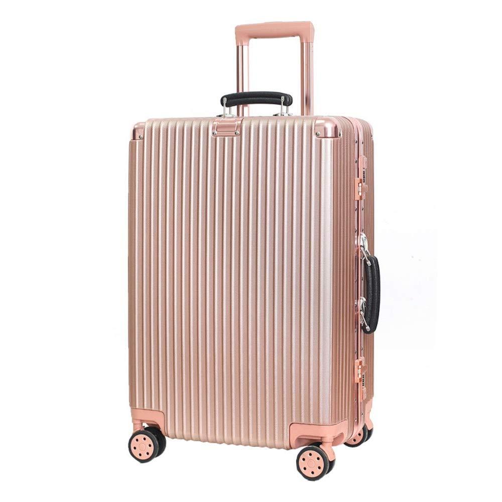 トロリーケースユニバーサルホイール荷物スーツケース20インチ搭乗パスワードスーツケース (Color : ローズゴールド, Size : 20 inches)   B07R1XMMZ7