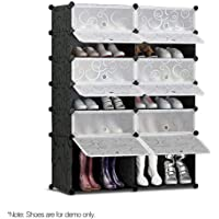 12-Compartment Cube DIY Shoe Cabinet Rack Storage Portable Stackable Organiser