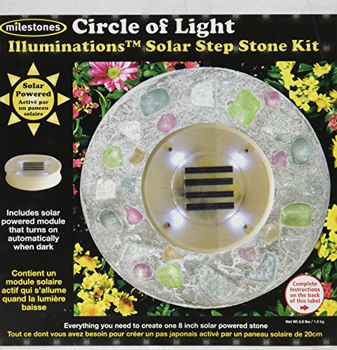 Midwest Products Illuminations Solar Stepping Stone Kit, Circle of Light (Powered Solar Stepping Stones)
