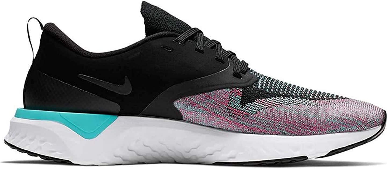 7.5 Nike Womens Odyssey React Flyknit 2 Running Shoe Black//Hyper Jade//Ember Glow