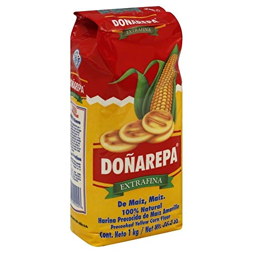 Doña Arepa Extrafina Yellow Corn Flour 35oz 8 Pack