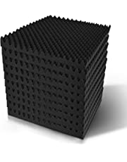 20pcs Eggshell Wedge Studio Acoustic Foam Sound Absorption Panels, 50 x 50cm