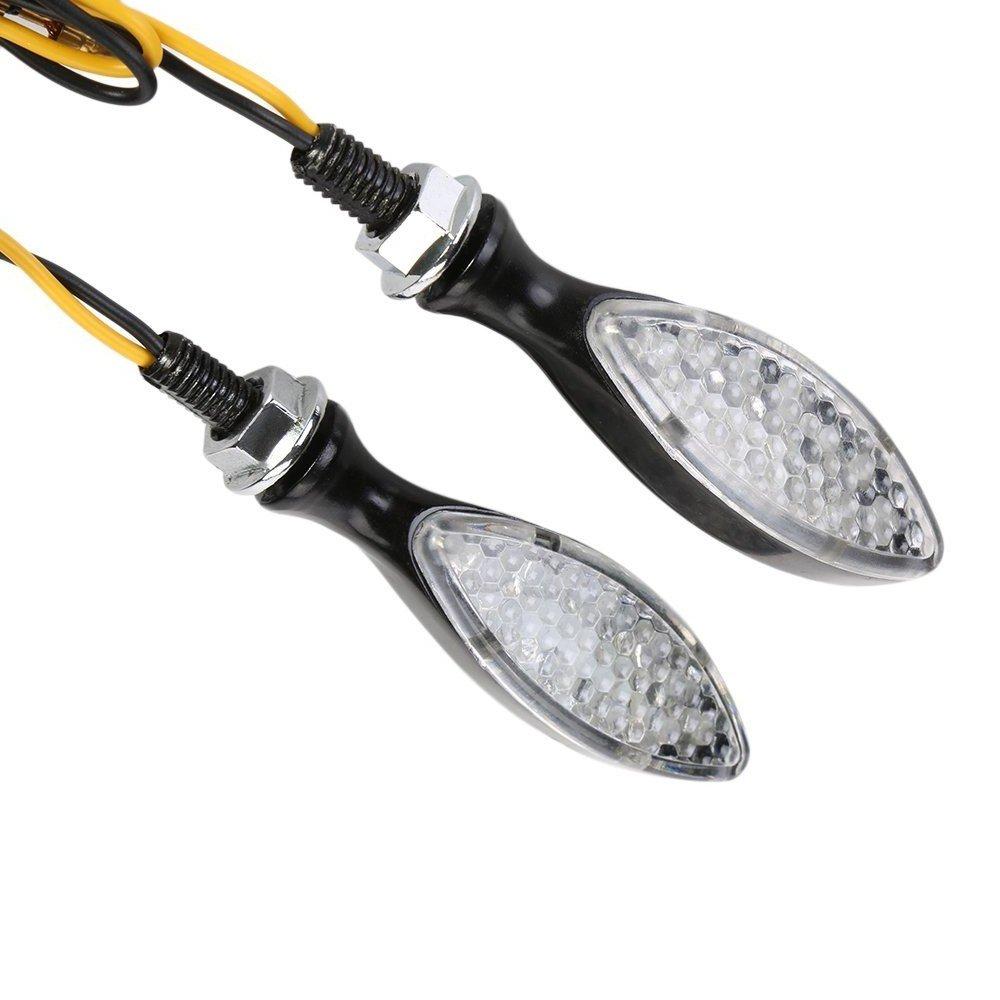 OSAN 4 x Intermitentes Universales para Motocicleta con Luces en Forma de flecha de 13 LED para Yamaha Fazer XT WR TT-R