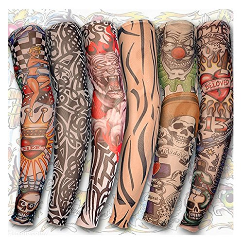 Motorcycle Face Mask - Tattoo Arm Leg Sleeves Sun Protection Cycling Halloween Party - 1PCs