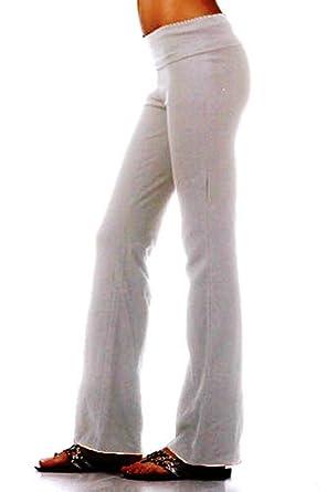 Amazon.com: Algodón Lycra Rollover Cintura Athletic ...