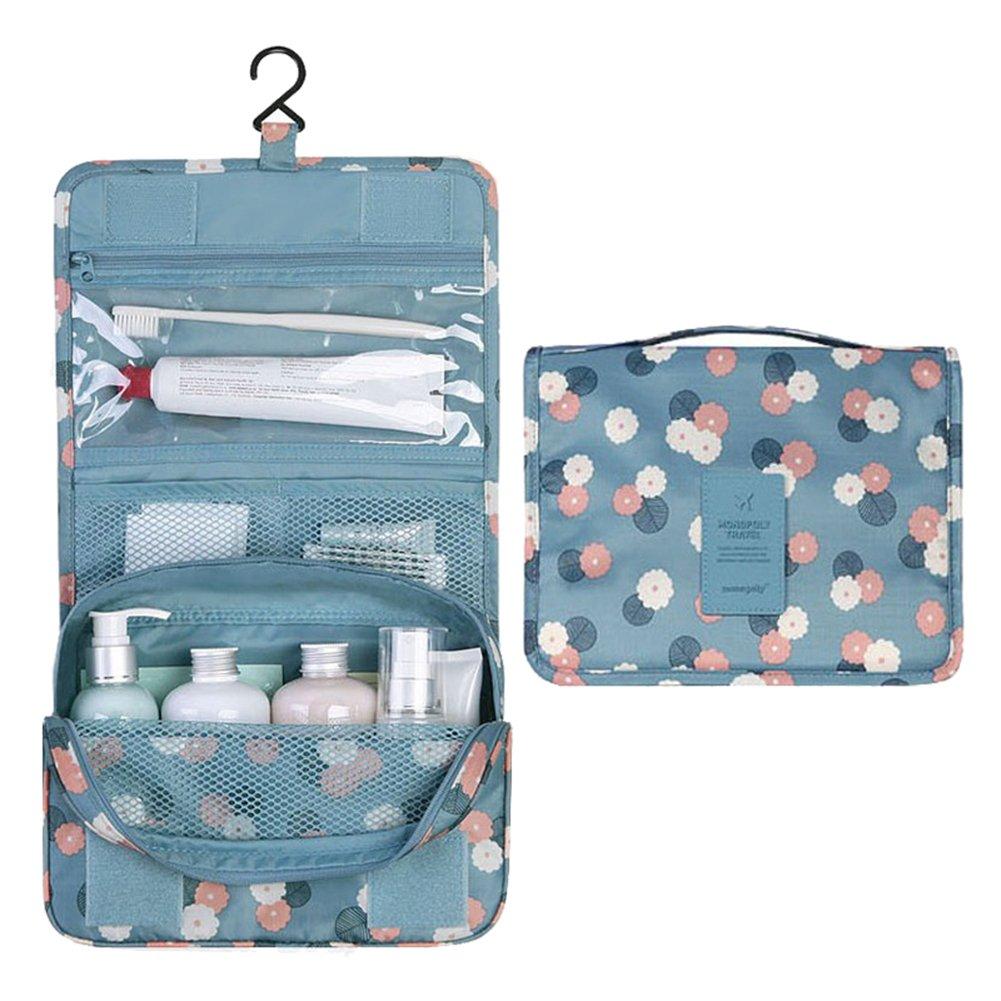 Leisial portatile appeso trousse per trucchi, con gancio bagno Storage per viaggio/sport/viaggio/campeggio, Panno, 1#, 24 X 9.5 X 19.5CM PVB154654G67FJ103