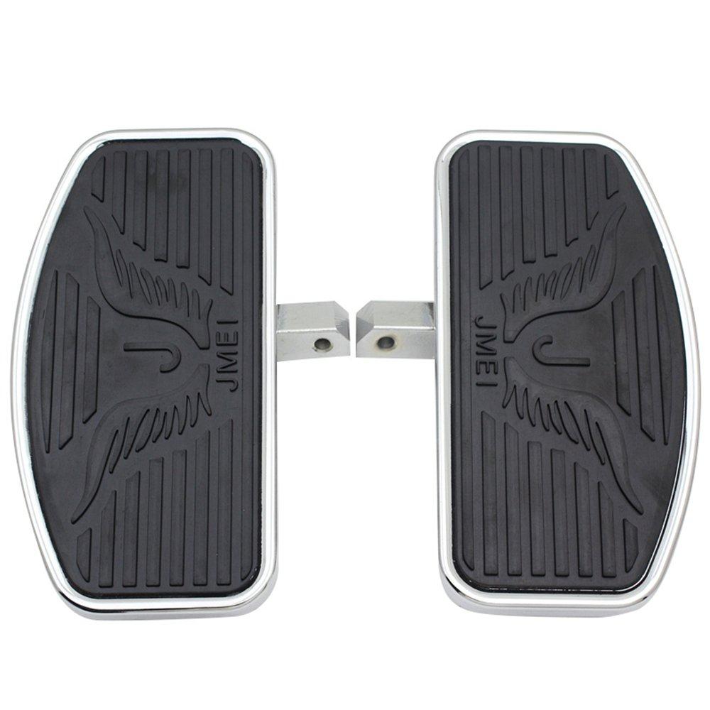 Motorcycle Floorboards Foot Pegs For Honda VTX1300 VTX1800 Suzuki VL400 VL800 C50 Footboard Front//Passenger Pair