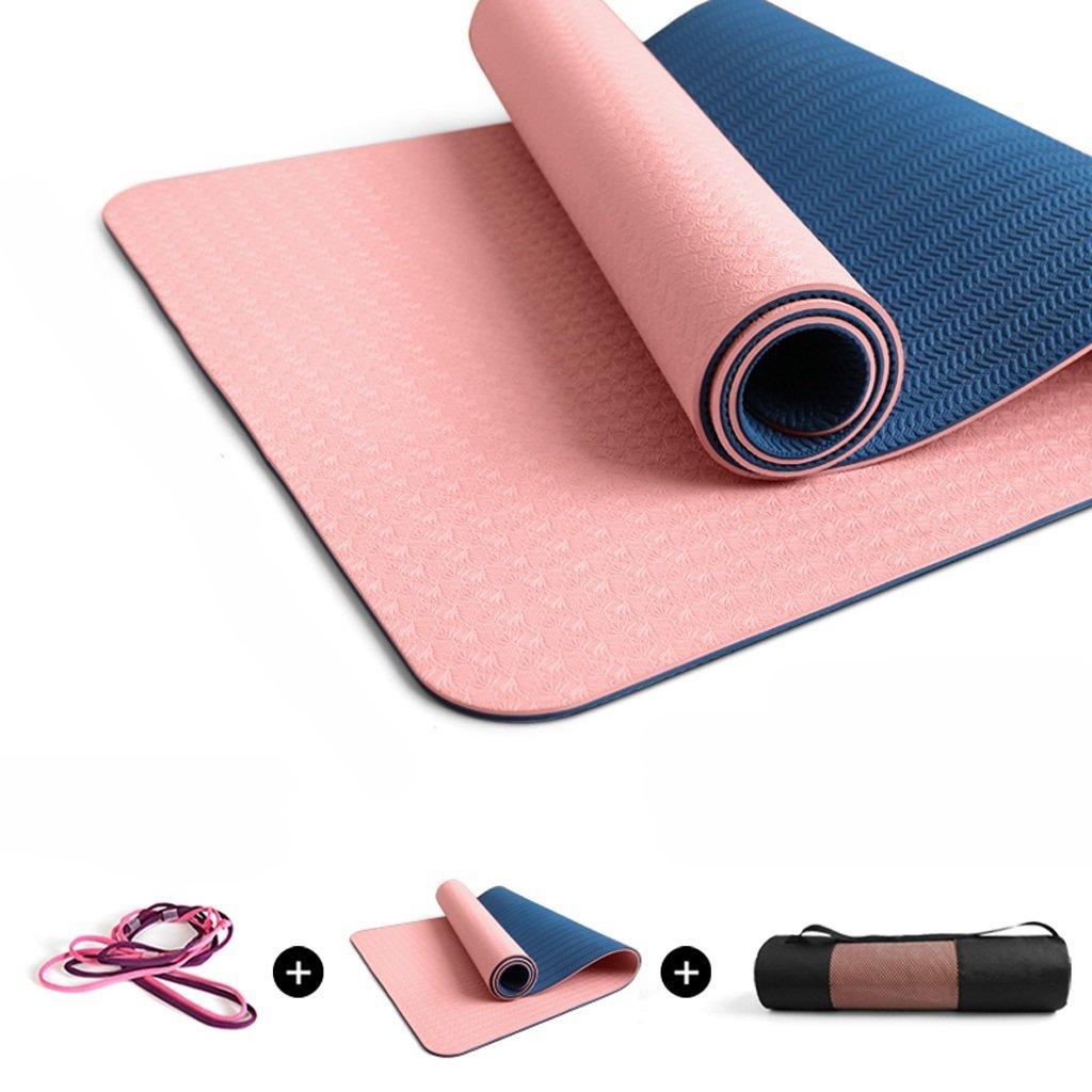 QAR Tappetino da Yoga Antiscivolo Lungo Antistress per Principianti Insipido Ampliato per Fitness Stuoia di Yoga
