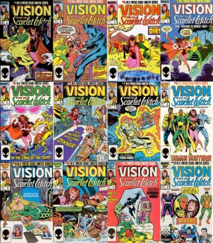 THE VISION AND THE SCARLET WITCH 1985 #1-12 Complete Mini-series (The Vision and the Scarlet Witch)