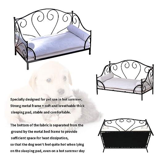 Amazon.com: BabyLand Cama para mascotas de metal, cama para ...