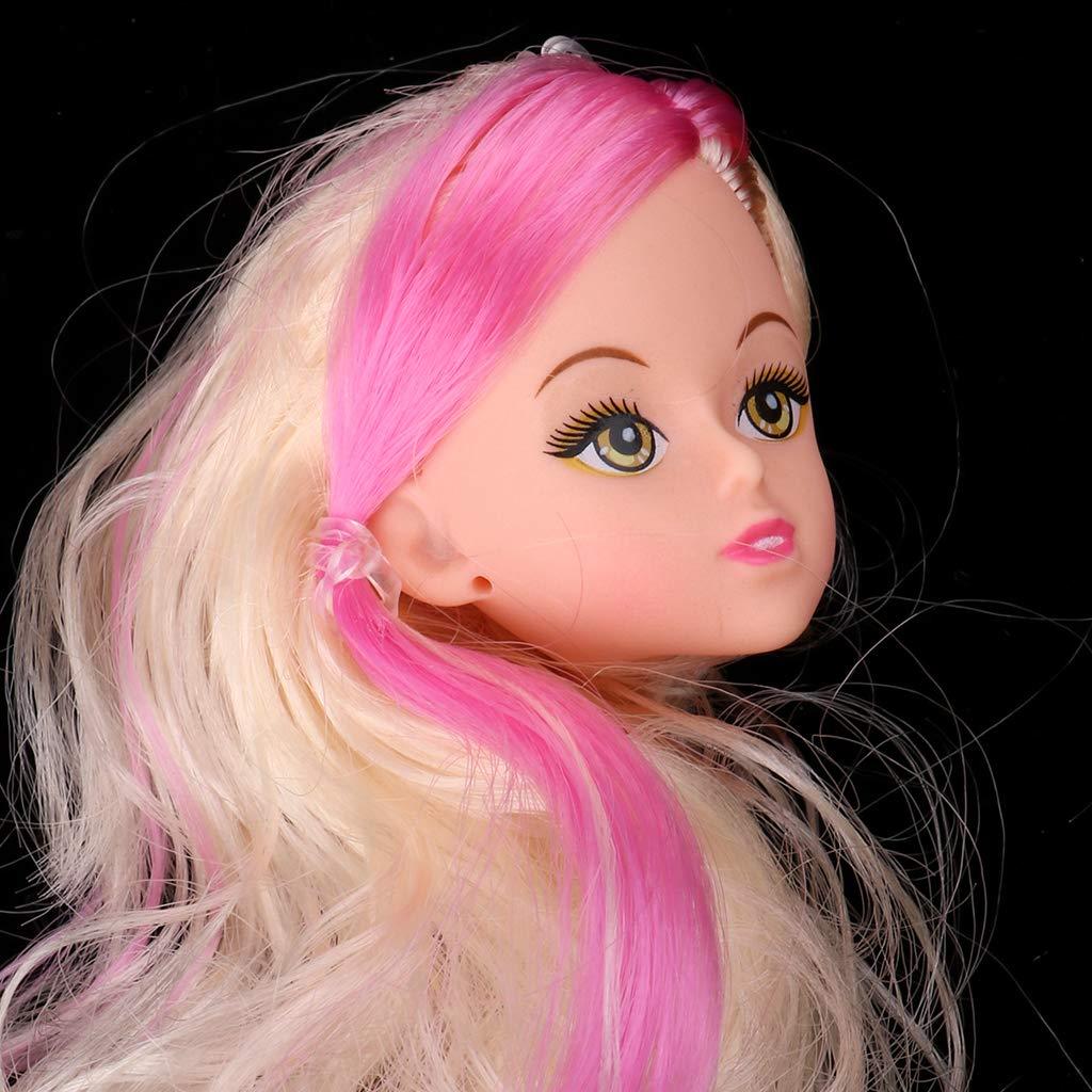 2pcs 1//6 Female Head Sculpt Long Curly Hair For Kurhn Figure Dolls Accessory