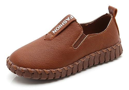Niño Mocasines De Cuero Casual Zapatos para Caminar Moda Loafers Chicos Chicas: Amazon.es: Zapatos y complementos