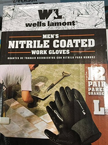 Wells Lamont Nitrile Coated Work Gloves 12 Pairs Large by Wells Lamont