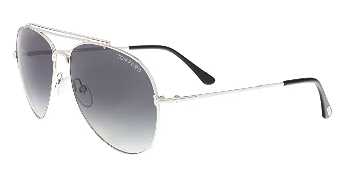 5a6cf27c25 Tom Ford FT0497 18B Shiny Rhodium Indiana Pilot Sunglasses Lens ...