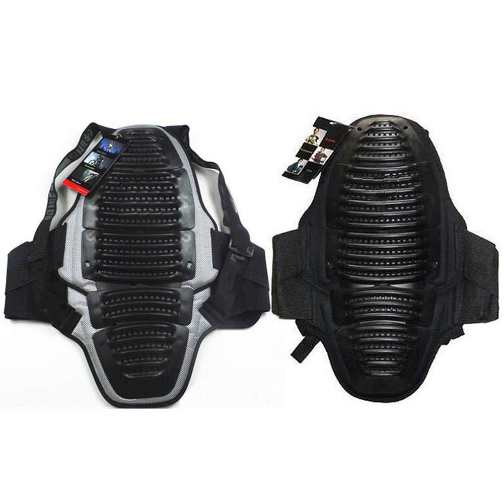 waterfail Protecci/ón Dorsal Protector de Espalda Deportivo Motocicleta Black Racing Protector de Espalda y Espina Dorsal Equipo de Ciclismo Equipo de protecci/ón para Deportes Extremos