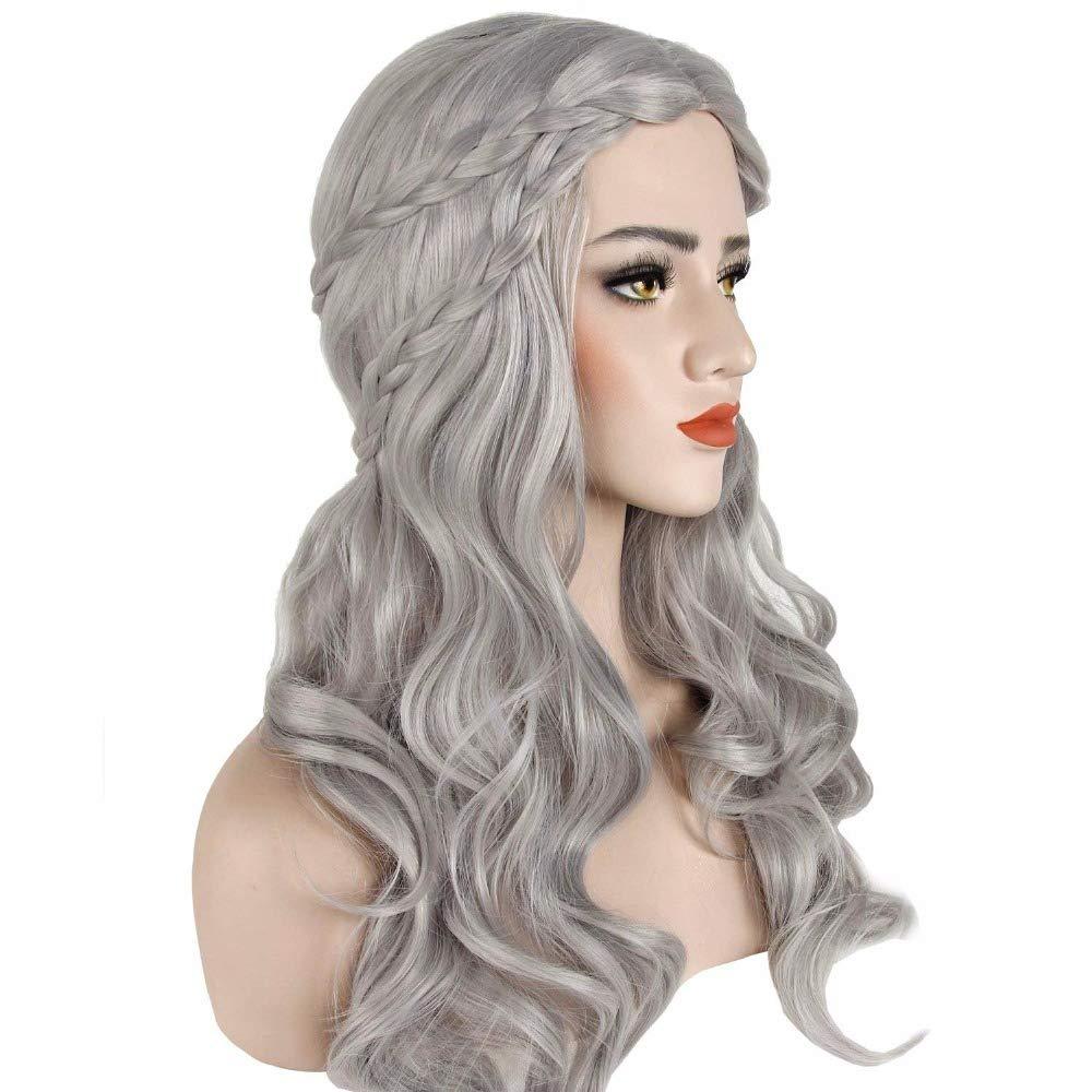 Largo Ondulado Pelucas juegos Halloween Cosplay peluca de pelo sintético Full 26 pulgadas...: Amazon.es: Belleza