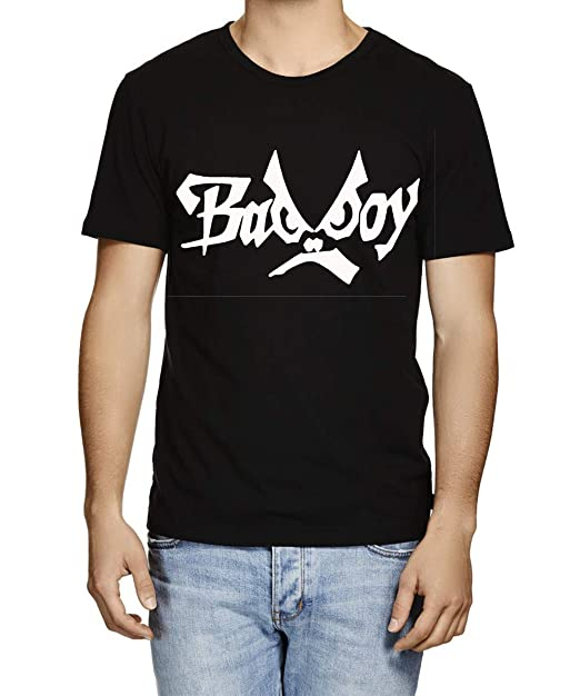 3d2dfd55f5c Caseria Men s Cotton Graphic Printed Half Sleeve T-Shirt - Bad Boy (Black