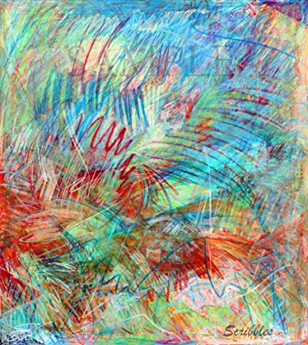 Giclee Print of Original Acrylic Painting w/Pastels on Canvas - Scribbles