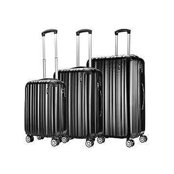 a618ea14d Sunydeal Set of Tres Maletas Juego de Maletas Rígidas ,Candado TSA, 4  Ruedas multidireccional, Azul: Amazon.es: Equipaje