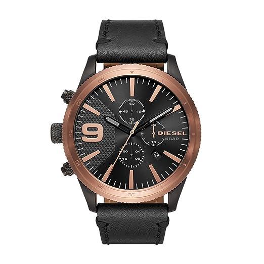 b89e5e0b977b Diesel Reloj Cronógrafo para Hombre de Cuarzo con Correa en Cuero DZ4445   Diesel  Amazon.es  Relojes