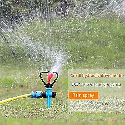 YD-outdoor Aspersor de jardín Spike Lawn Grass, Boquilla de Agua giratoria Ajustable de 360 Grados, Pulverizador de impulsos en tándem para Sistema de riego,10pcs: Amazon.es: Deportes y aire libre