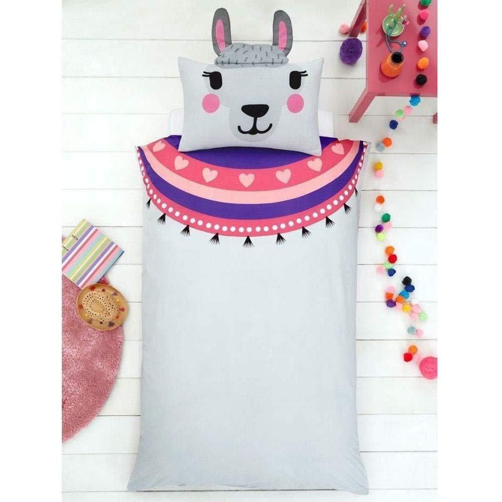 Attitude Clothing 3D Llama umkehrbare Einzel-Bett-Set