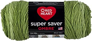 Red Heart Ombre Yarn, GREEN APPLE